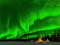 Yung Niem, Canada - Aurora appearing over YK